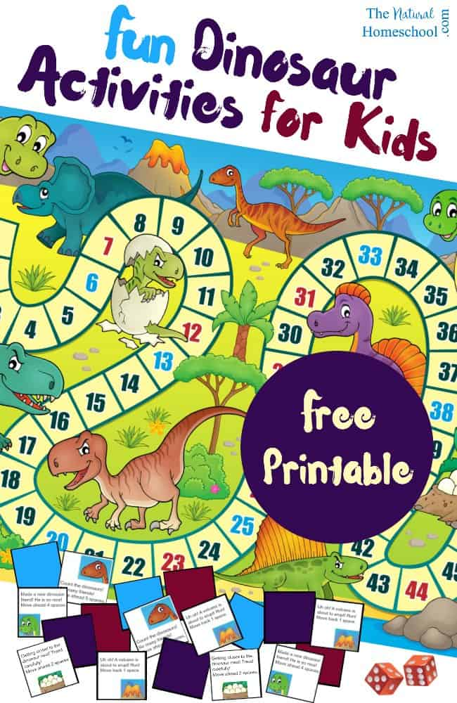 Free printable dinosaur activities for kids the natural for Dinosaur crafts for toddlers